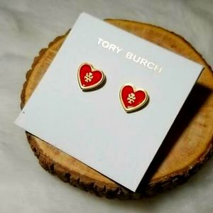 Nwot Tory Burch heart earrings